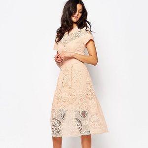 River Island Lace Midi Dress
